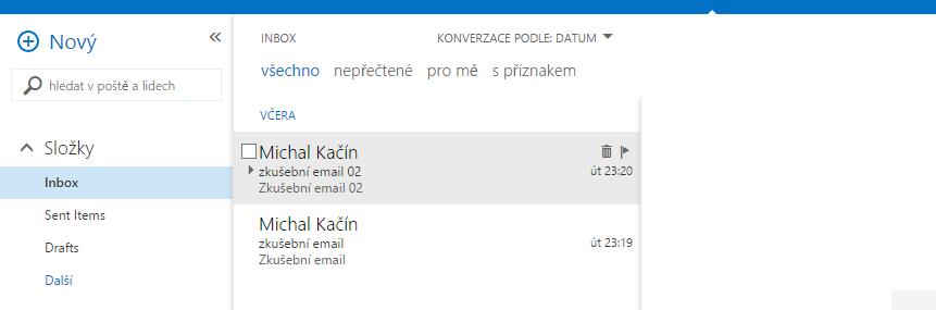 Filtrování emailů (1)