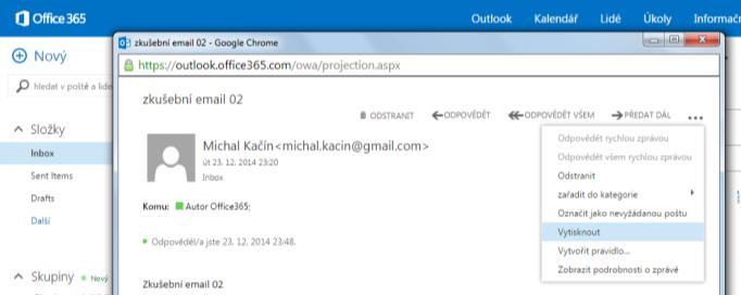 Rozšířené možnosti zpracování doručené pošty (1)